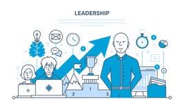 领导、技能、事业成功和教育,达到新的高度 皇族释放例证