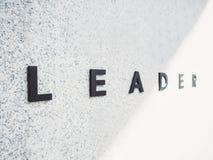 领导人队在概念性背景的事务的工作类型 库存照片