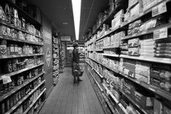 领导人价格超级市场 库存照片