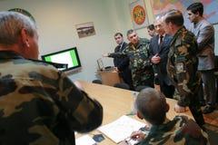 领导会议军人 免版税库存图片