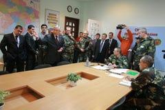 领导会议军人 免版税库存照片