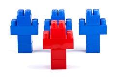 领导先锋。 玩具。 免版税库存图片