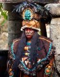 领导先锋玛雅部落 免版税库存照片