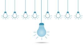 领导创造性的另外电灯泡在企业概念的 图库摄影