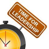 领导手段的时刻处理教导并且命令 皇族释放例证