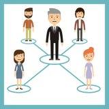 领导概念-工作者是附属的领导 免版税库存照片