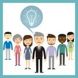领导概念-从工作者的不同的想法 免版税库存照片