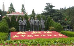 领导的第一代雕刻雕象,中国 库存图片