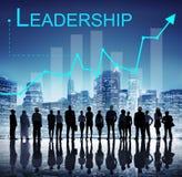 领导管理才能领导人支持概念 免版税库存照片