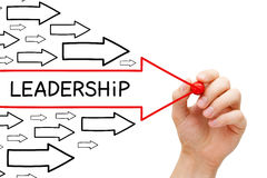 领导箭头概念 库存图片