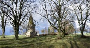 领导1月Zizka, Hussite革命,捷克的著名古墓  免版税库存照片