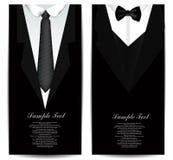 领带名片 库存图片