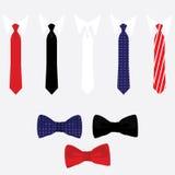 领带和蝶形领结集合 库存照片