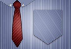 领带和衬衣为父亲节 免版税库存照片