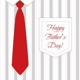 领带和衬衣为父亲节 向量例证