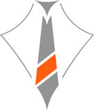 领带商标,企业商标 皇族释放例证