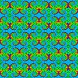 领带染料螺旋10 -领带在多种颜色的染料背景 库存照片