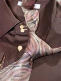 领带衬衣部件 免版税库存图片