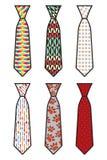 领带集合 库存照片