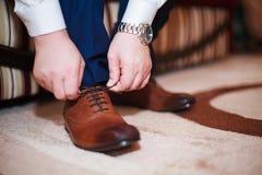 领带鞋子 免版税库存图片