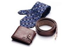 领带,传送带,钱包 免版税库存照片