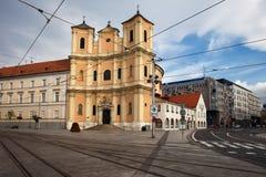 领港教会在布拉索夫 免版税库存照片