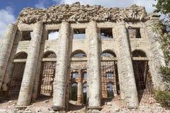 领港教会的废墟第五座山的 Volosovsky区 冬天 俄国 免版税库存照片