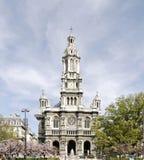 领港教会-方形的d'Estienne d'Orves Sainte-Trinite Paris.France 库存图片