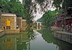 颐和园复合体的片段,北京,中国 免版税库存图片