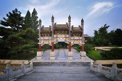 颐和园拱道 免版税库存图片