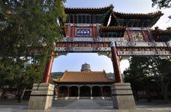颐和园拱道 库存图片