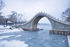 颐和园的桥梁 库存图片