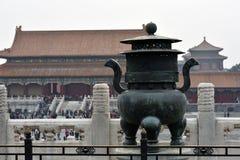 颐和园雕象 库存照片