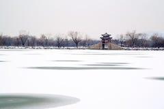 颐和园雪视图  库存图片