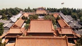 颐和园,长寿小山的南面孔 免版税图库摄影