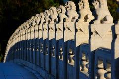 颐和园17曲拱桥梁 库存图片