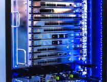 频率密集波分复用连接器间距在光学模块化的 Multiservise平台 免版税图库摄影
