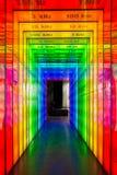 频率幽灵:对紫罗兰的红色 库存图片