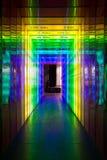 频率幽灵:对紫罗兰的黄色 免版税图库摄影