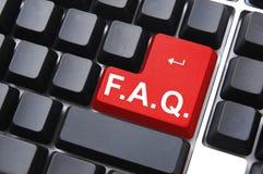 频繁地被问的问题 免版税库存照片