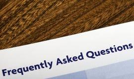 频繁地被问的问题 免版税图库摄影
