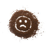 颗粒状咖啡哀伤的标志 免版税库存图片