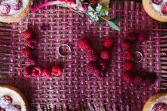 题字从莓的情书 库存图片
