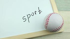题字体育和棒球球 股票录像