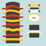 题字和设计的磁带 免版税图库摄影