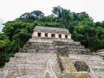 题字的寺庙-帕伦克-恰帕斯州 免版税库存照片