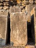 题字石头在以弗所 免版税库存图片