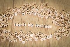 题字组成由块回到学校/概念 免版税图库摄影