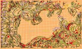 题字背景设计的花卉地方 免版税库存图片