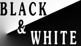 题字`黑色&白色` 免版税库存照片